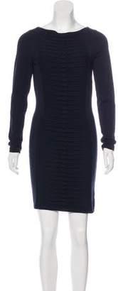 Versace Long Sleeve Knit Dress