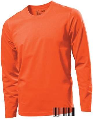 Hanes Underhood of London Men's Tagless 100% Cotton Long Sleeve Crew Neck T-shirt