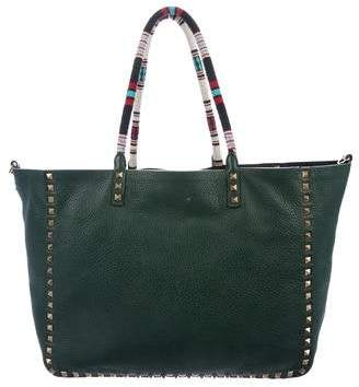 Valentino Reversible Rockstud Leather Tote