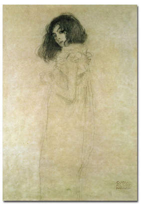 "Gustav Trademark Global Klimt 'Portrait of a Young Woman 1896-97' Canvas Art - 14"" x 19"""