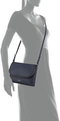 Furla Noemi Small Leather Fold-Over Crossbody Bag