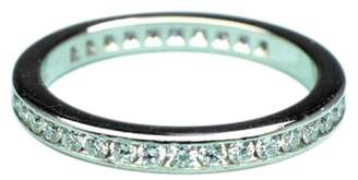 Tiffany & Co. Platinum & 0.40ct Diamond Wedding Band Ring Size 4.5