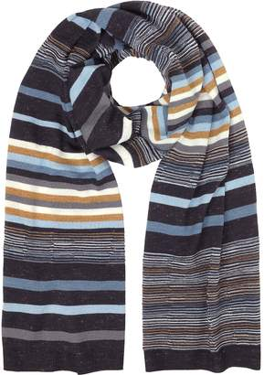 Missoni Striped Wool Blend Men's Long Scarf