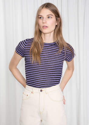 And other stories Sheer Striped T-shirt