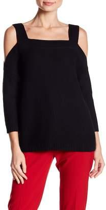 Tart Merino Wool Blended Cold Shoulder Sweater