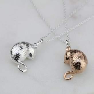 Nest Silver Or Rose Gold Dormouse Pendant
