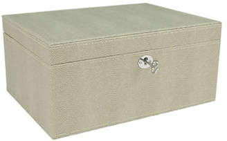 HBC GUNTHER MELE Lizard-Embossed Large Jewellery Case