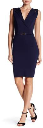 London Dress Company Belted Waist Surplice Dress