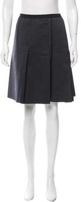Behnaz Sarafpour Pleated Silk Skirt