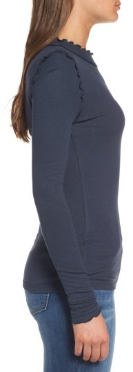 Women's Hinge Long Sleeve Ruffle Tee 4