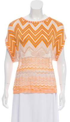 Missoni Knit Short Sleeve Top