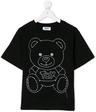 Moschino Kids teddy bear print maxi T-shirt
