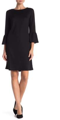 Joe Fresh Ruffled 3\u002F4 Sleeve Knit Dress