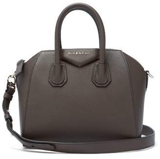 Givenchy Antigona Mini Grained Leather Cross Body Bag - Womens - Dark Brown
