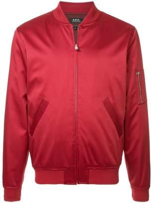 A.P.C. zipped bomber jacket