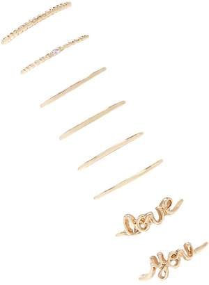 Forever 21 Love You Ring Set