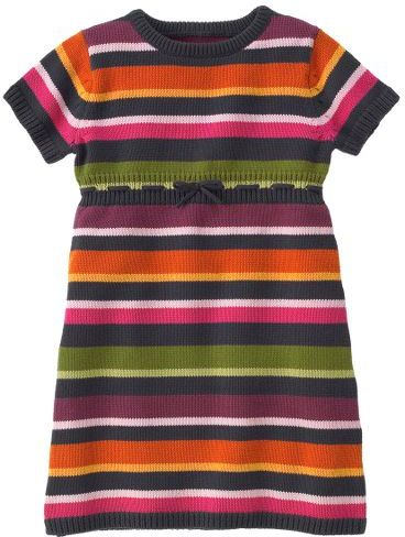 Stripe Short Sleeve Sweater Dress