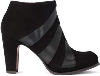 Chie Mihara Galet Black Suede And Leather Ankle Boots