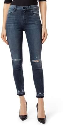 J Brand Alana High Waist Ripped Skinny Jeans
