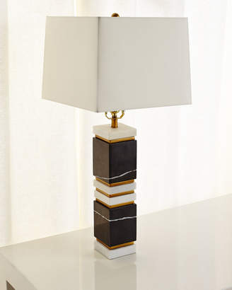 Arteriors Dustin Marble/Brass Table Lamp