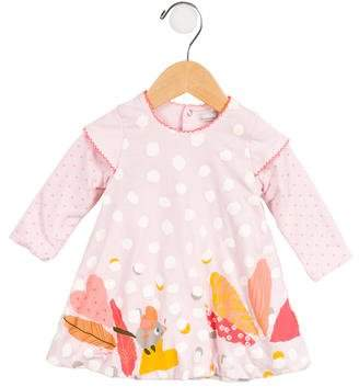 Catimini Girls' Printed Long Sleeve Dress