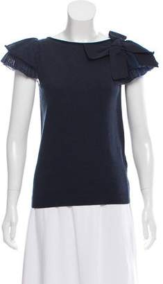 RED Valentino Wool Blend Short Sleeve Top