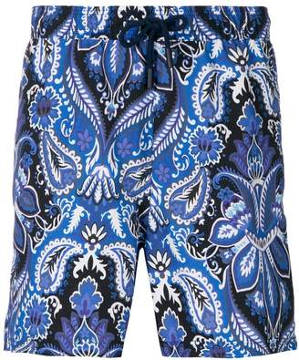 Etro mixed paisley print swim shorts