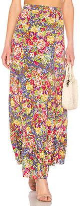 AUGUSTE Magnolia Violet Maxi Skirt