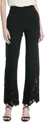 Jonathan Simkhai Lace-Hem Crepe Pants