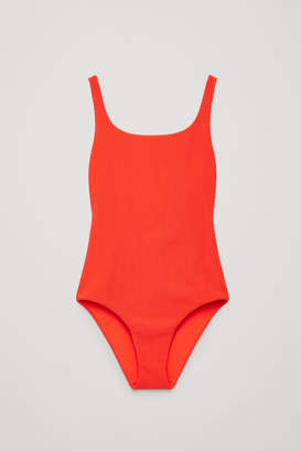 Cos OPEN-BACK RIBBED SWIMSUIT