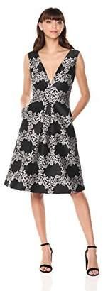 ML Monique Lhuillier Women's Jacquard Cocktail Dress Dress