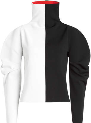 Haider Ackermann Two-Tone Turtleneck Pullover