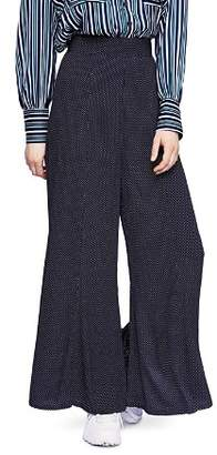 Free People Wild And Free Polka Dot Wide-Leg Pants