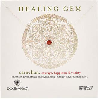 Dogeared Healing Silver Carnelian Necklace