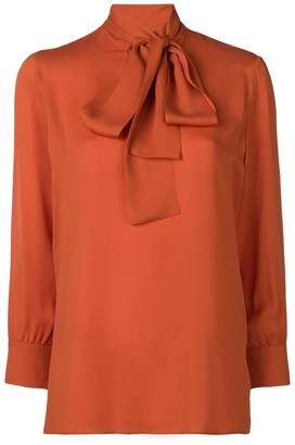 Gucci neck-tied long sleeve blouse