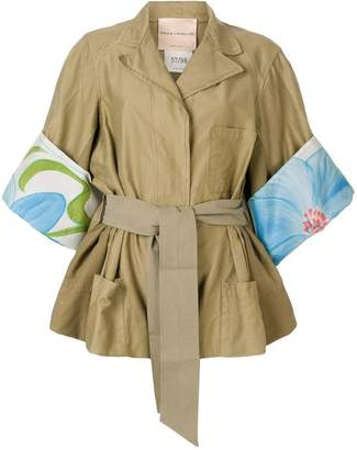 Cavallini Erika printed cuff jacket