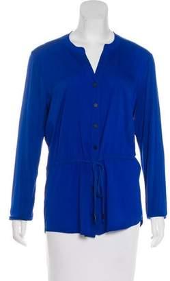 Calvin Klein Long Sleeve Button-Up Blouse