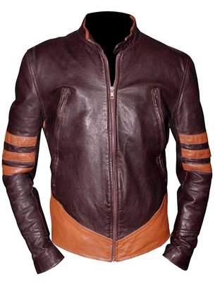 Wolverine VearFit X-Men Superhero Real Brown Leather Jacket Men