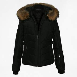 Oakwood Competition Black Fur Trim Hooded Jacket