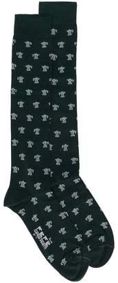 fe-fe cat intarsia socks
