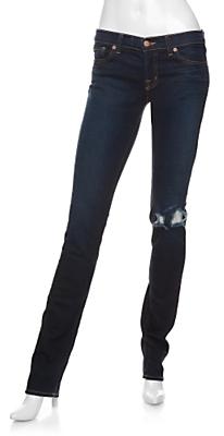 J Brand Wounded Knee Pencil Leg Jeans: Dark Vintage