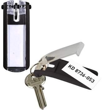DURABLE Label Window Key Tags, Black, 6 / Pack (Quantity)
