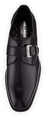 Karl Lagerfeld Paris Men's Monk-Strap Smooth Dress Shoes