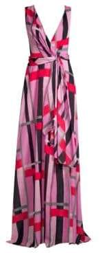 Josie Natori Taisho Stripes Collection Column Gown