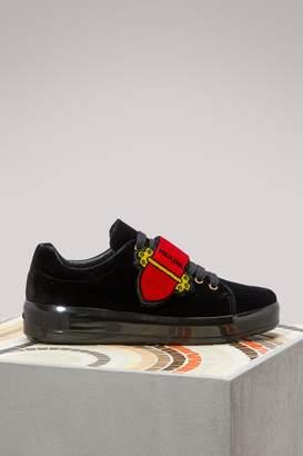 Prada Cahier velvet sneakers