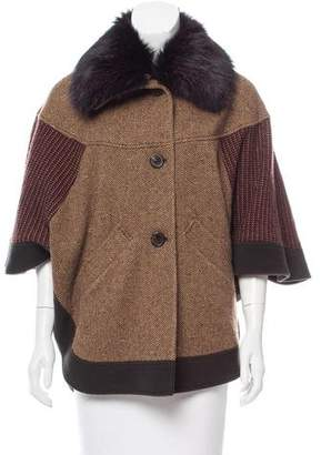 Etro Wool Fur-Trimmed Jacket