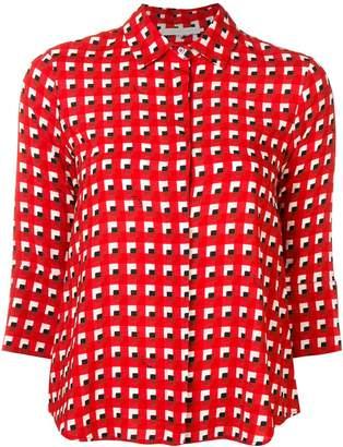 L'Autre Chose cropped sleeve blouse