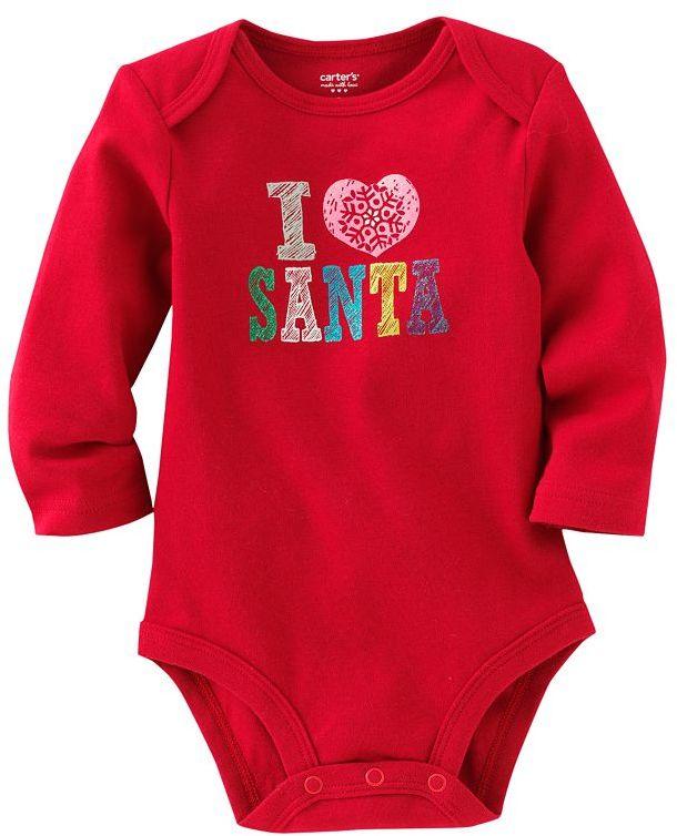 """Carter's i ♥ santa"""" bodysuit - newborn"""