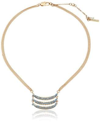 Kenneth Cole New York Mood Woven Faceted Bead Triple Bar Pendant Necklace