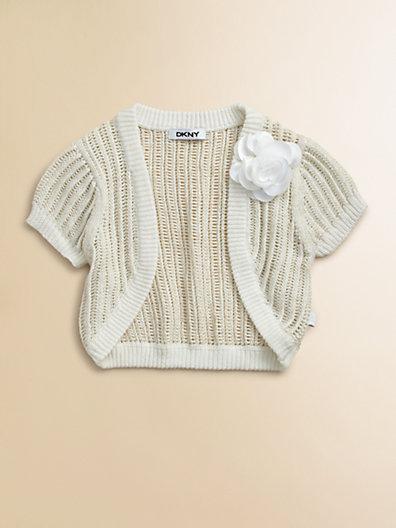 DKNY Toddler's & Little Girl's Shrug Sweater